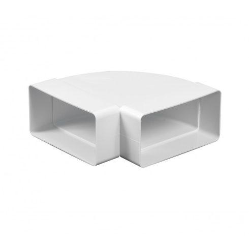 Laposcsatorna könyök PVC vízszintes 90° [55x110]