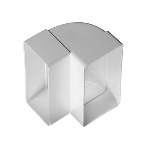 Laposcsatorna könyök PVC függőleges 90° [55x110]
