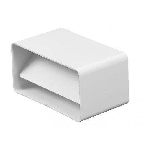Laposcsatorna toldó visszacsapószeleppel PVC [75x150]